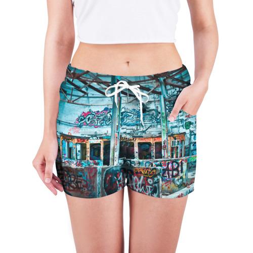 Женские шорты 3D  Фото 03, Гранж