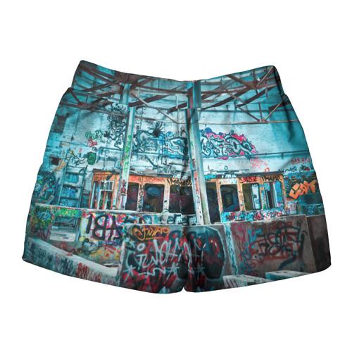 Женские шорты 3D  Фото 02, Гранж