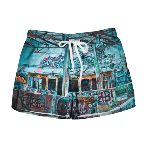 Женские шорты 3D  Фото 01, Гранж