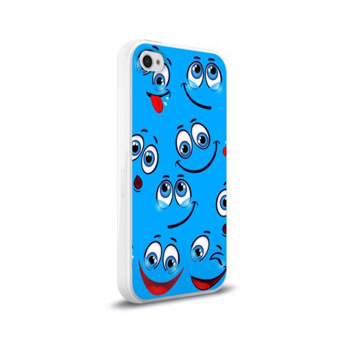 Чехол для Apple iPhone 4/4S силиконовый глянцевый Смайлик Фото 01