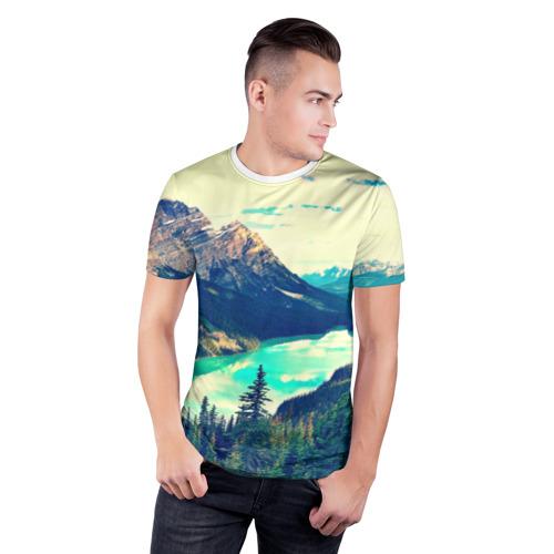 Мужская футболка 3D спортивная  Фото 03, Канада-Альберта
