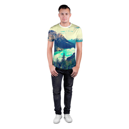 Мужская футболка 3D спортивная  Фото 04, Канада-Альберта