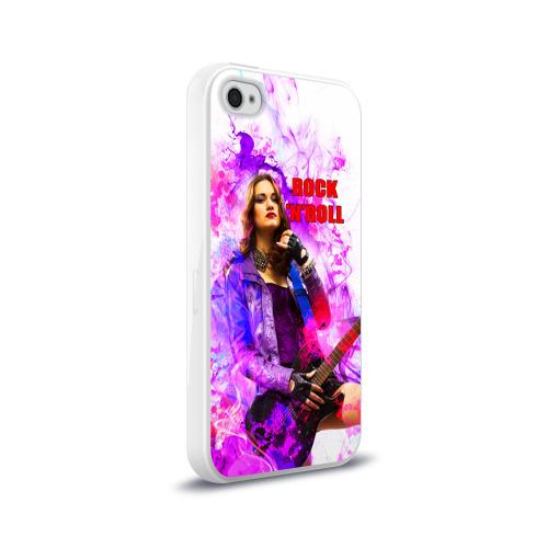 Чехол для Apple iPhone 4/4S силиконовый глянцевый  Фото 02, Rock-n-Roll