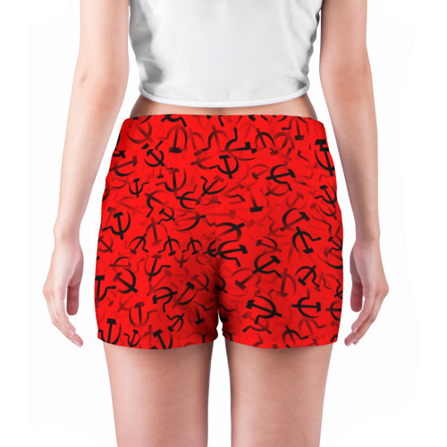 Женские шорты 3D  Фото 04, Серп и молот 1