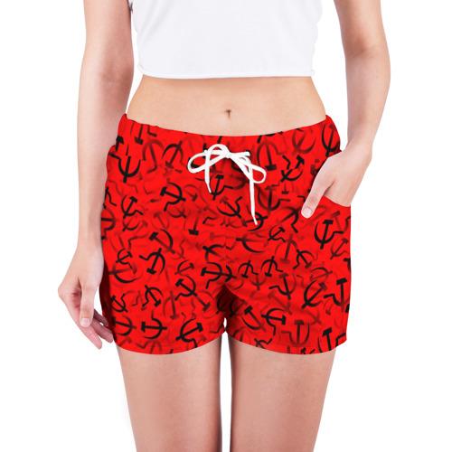 Женские шорты 3D  Фото 03, Серп и молот 1