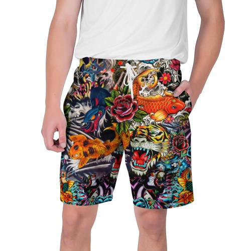 Мужские шорты 3D Dsquared tatoo