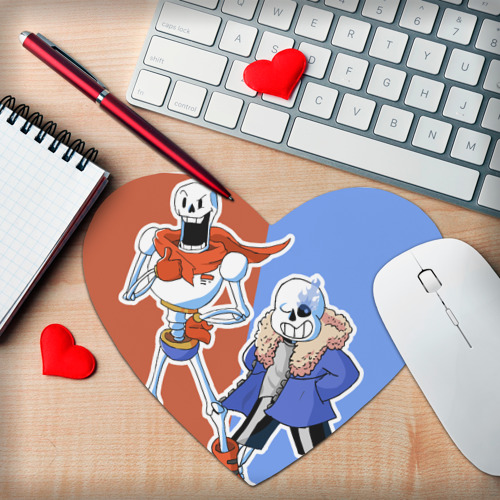 Коврик для мыши сердце  Фото 02, Papyrus & Sans