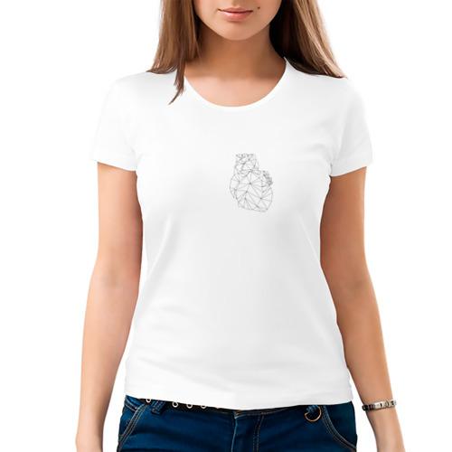 Женская футболка хлопок  Фото 03, Polygonal Heart