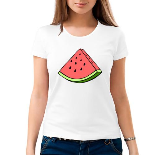 Женская футболка хлопок  Фото 03, Арбуз