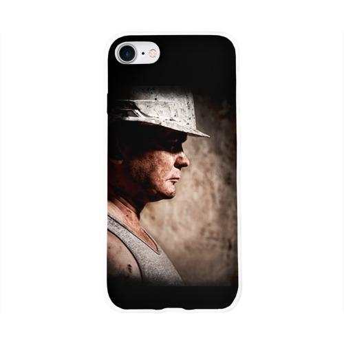 Чехол для Apple iPhone 8 силиконовый глянцевый  Фото 01, Шахтёр