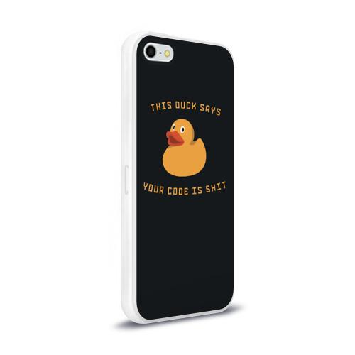 Чехол для Apple iPhone 5/5S силиконовый глянцевый  Фото 02, Duck says