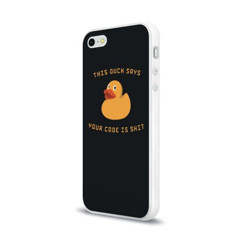 Чехол для Apple iPhone 5/5S силиконовый глянцевый  Фото 03, Duck says