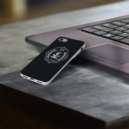 Чехол для Apple iPhone 8 силиконовый глянцевый  Фото 03, Java old school