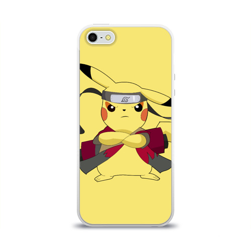 Чехол для Apple iPhone 5/5S силиконовый глянцевый Pikachu Фото 01