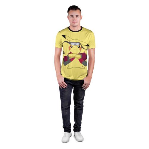 Мужская футболка 3D спортивная  Фото 04, Pikachu