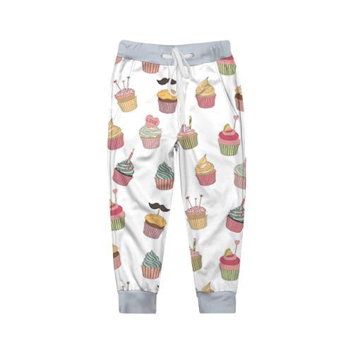 Детские брюки 3D Капкейки