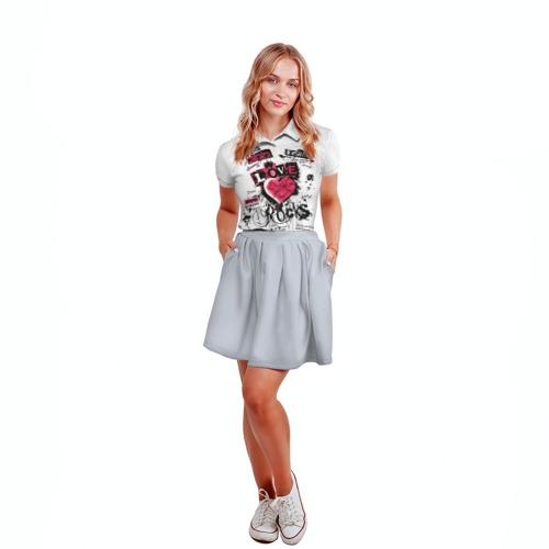Женская рубашка поло 3D  Фото 04, Рок сердца 4