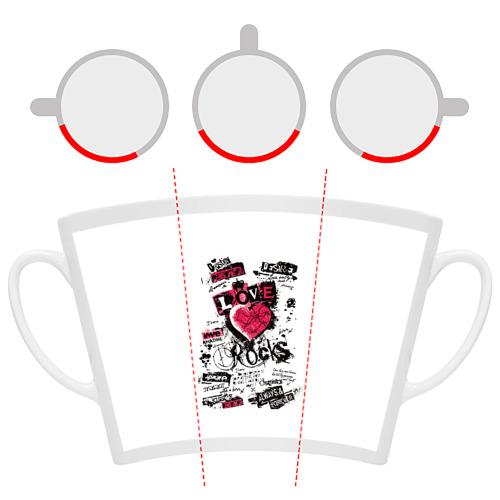 Кружка Латте  Фото 06, Рок сердца 4