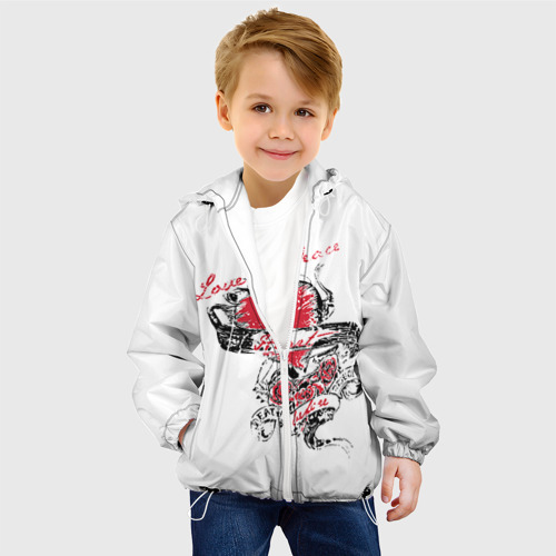 Детская куртка 3D  Фото 03, Рок сердца 6