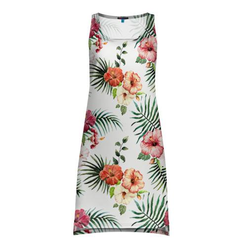 Платье-майка 3D  Фото 01, Цветы и бабочки 1