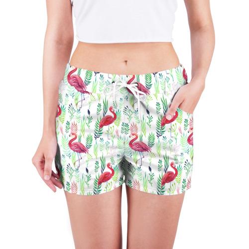 Женские шорты 3D  Фото 03, Цветы и бабочки 2