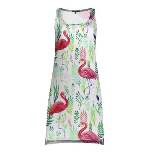 Платье-майка 3D Цветы и бабочки 2