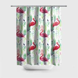 Цветы и фламинго 2