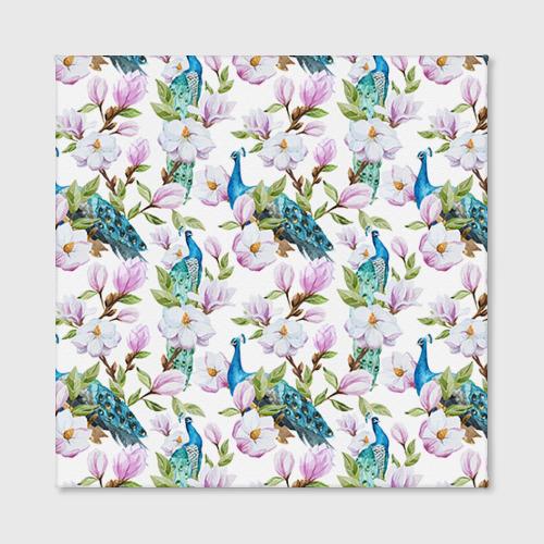 Холст квадратный  Фото 02, Цветы и бабочки 6