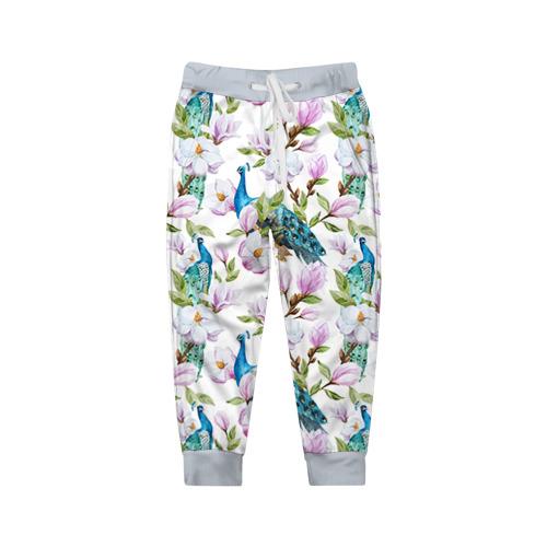 Детские брюки 3D Цветы и бабочки 6