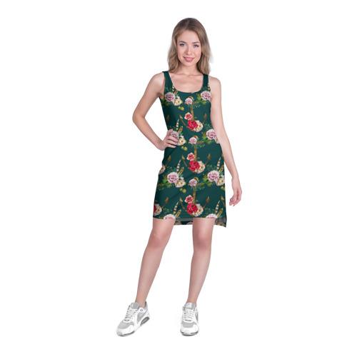 Платье-майка 3D  Фото 03, Цветы и бабочки 7
