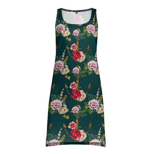 Платье-майка 3D  Фото 01, Цветы и бабочки 7
