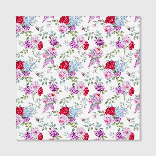 Холст квадратный  Фото 02, Цветы и бабочки 8