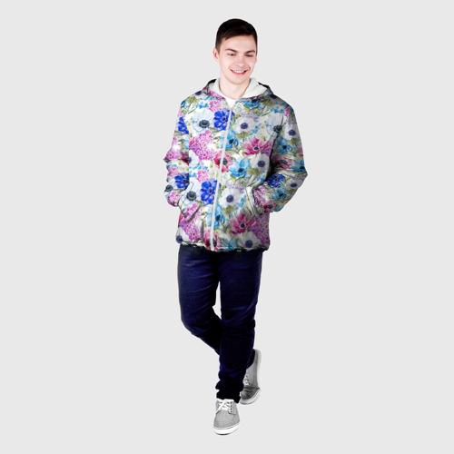 Мужская куртка 3D  Фото 03, Цветы и бабочки 9