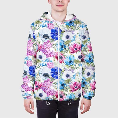 Мужская куртка 3D  Фото 04, Цветы и бабочки 9