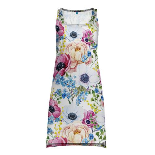 Платье-майка 3D  Фото 01, Цветы и бабочки 10