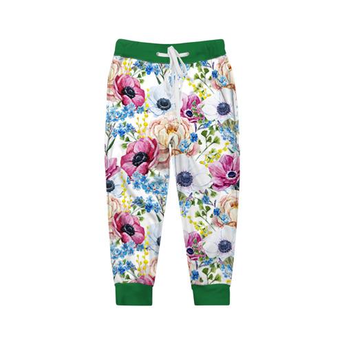 Детские брюки 3D Цветы и бабочки 10