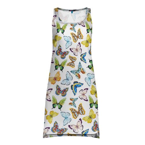Платье-майка 3D  Фото 01, Цветы и бабочки 11