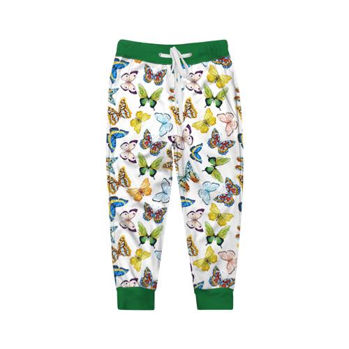 Детские брюки 3D Цветы и бабочки 11
