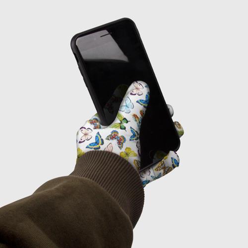 Перчатки 3D Цветы и бабочки 11 Фото 01