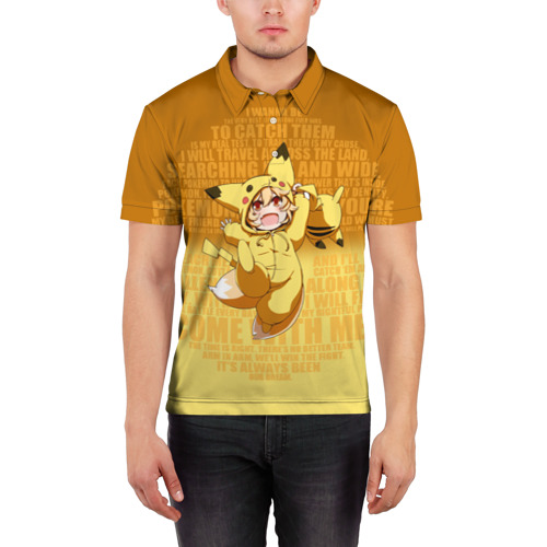 Мужская рубашка поло 3D  Фото 03, Pikachu