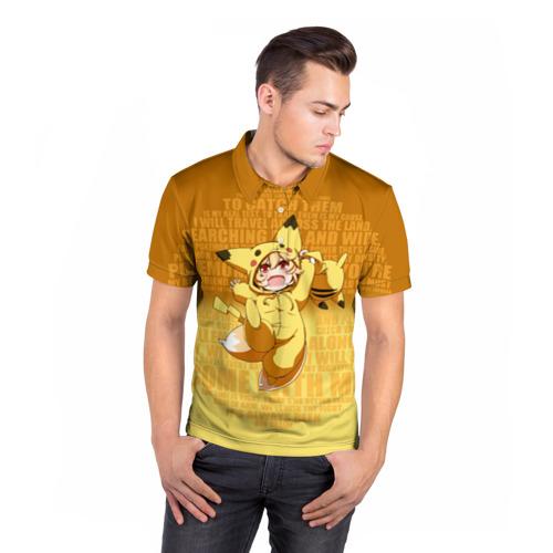 Мужская рубашка поло 3D  Фото 05, Pikachu