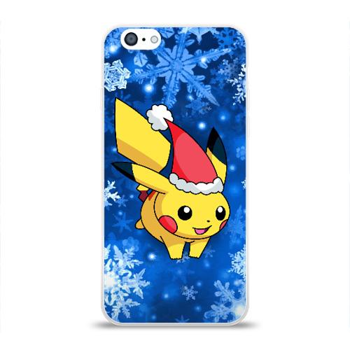 Чехол для Apple iPhone 6 силиконовый глянцевый  Фото 01, Pikachu