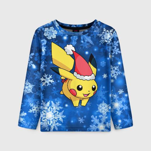 Детский лонгслив 3D Pikachu
