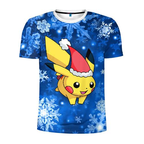 Мужская футболка 3D спортивная Pikachu