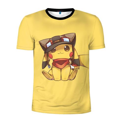 Мужская футболка 3D спортивная  Фото 01, Pikachu