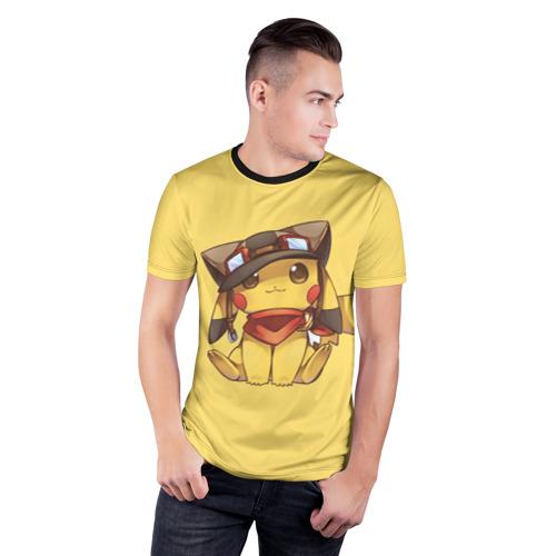Мужская футболка 3D спортивная  Фото 03, Pikachu