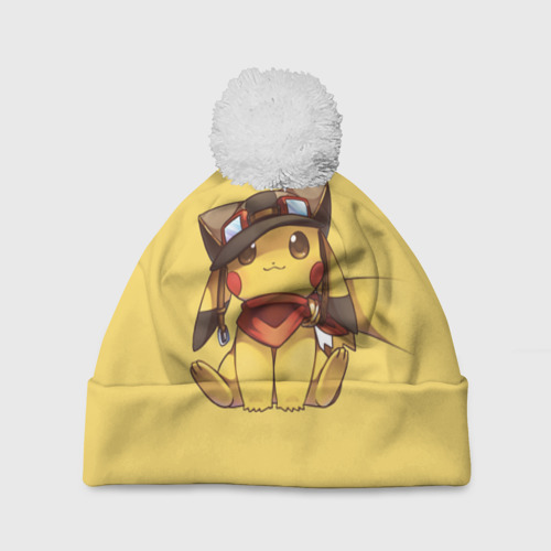Шапка 3D c помпоном  Фото 01, Pikachu