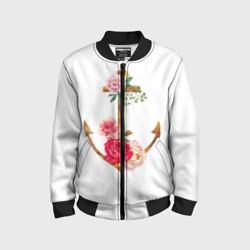 Якорь с цветами