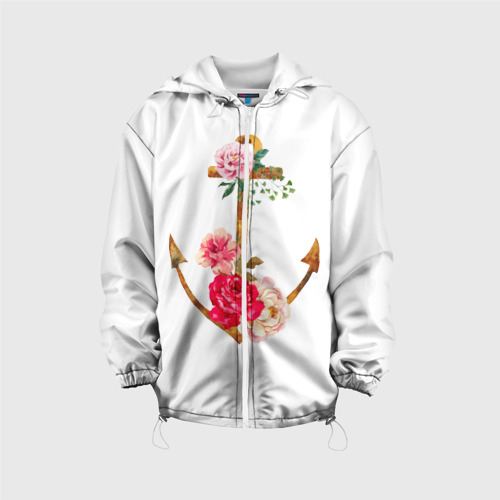 Детская куртка 3D  Фото 01, Якорь с цветами