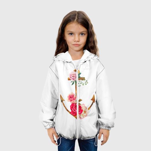Детская куртка 3D  Фото 04, Якорь с цветами